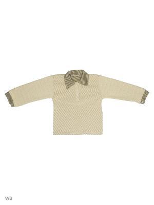 Рубашка-поло Babycollection. Цвет: горчичный