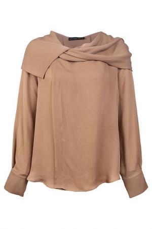 Блузка Plein Sud. Цвет: коричневый