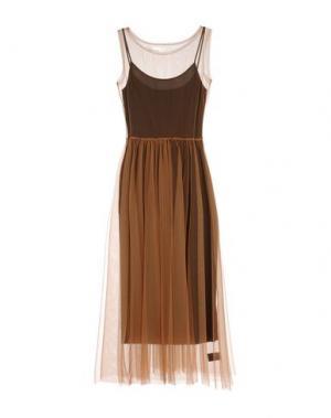 Длинное платье NOSTRASANTISSIMA. Цвет: коричневый