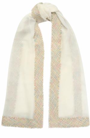 Кашемировый платок Franco Ferrari. Цвет: белый