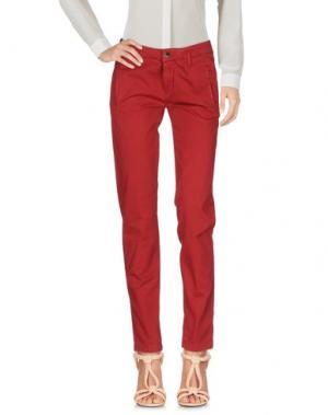 Повседневные брюки KAOS JEANS. Цвет: кирпично-красный