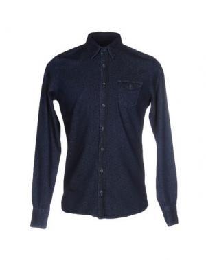Джинсовая рубашка 0/ZERO CONSTRUCTION. Цвет: синий