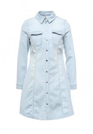 Платье джинсовое Bestia. Цвет: голубой