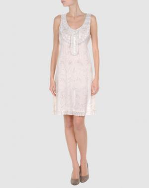 Короткое платье BY TI MO. Цвет: слоновая кость