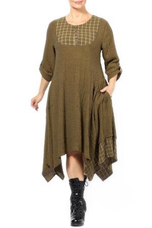 Платье Zedd Plus. Цвет: желтый