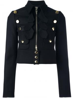 Укороченный жакет в военном стиле Givenchy. Цвет: чёрный