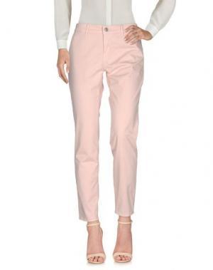 Повседневные брюки CARE LABEL. Цвет: розовый