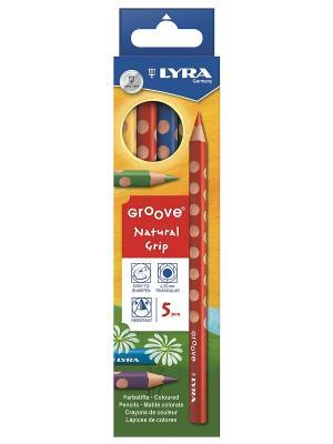 LYRA GROOVE 5 цв.цветные карандаши утолщ. Цвет: желтый, зеленый, синий