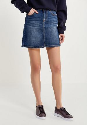 Юбка джинсовая Tommy Jeans. Цвет: синий