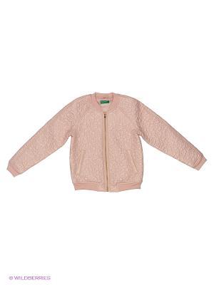 Куртка United Colors of Benetton. Цвет: хаки, бледно-розовый, темно-коричневый