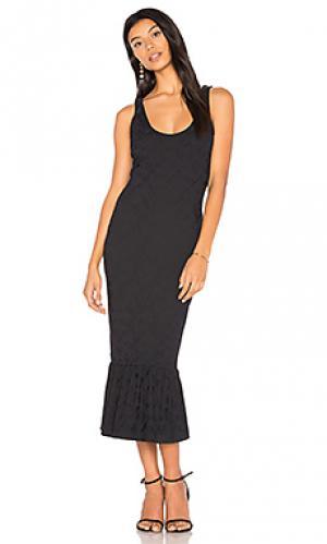 Embossed jacquard midi dress twenty. Цвет: черный