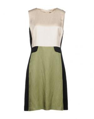 Короткое платье FABRIZIO LENZI. Цвет: зеленый