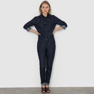 Combinaison pantalon en denim La Redoute Collections. Цвет: темно-синий