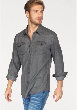 Рубашка JOHN DEVIN. Цвет: серый