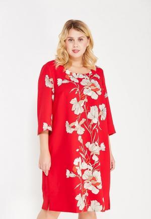 Платье Ulla Popken. Цвет: красный