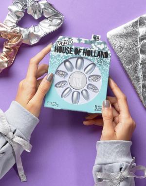 Elegant Touch Накладные ногти House of Holland Luxe by. Цвет: серебряный
