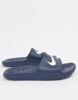 Nike Синие шлепанцы Kawa 832528-400. Цвет: синий