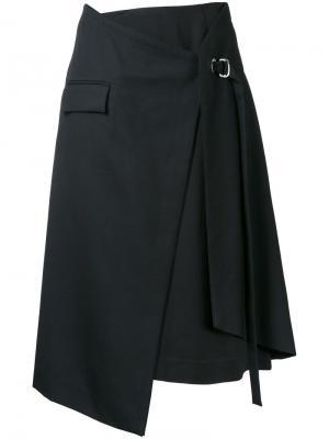 Многослойная юбка с запахом Taro Horiuchi. Цвет: чёрный