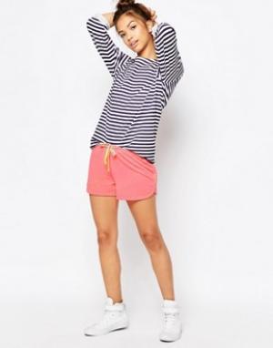 SUNDRY Розовые шорты Pop. Цвет: розовый