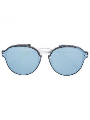 Солнцезащитные очки Eclat Dior Eyewear. Цвет: синий