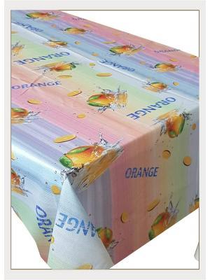 Скатерть с фотопринтом Сочный апельсин, 110x150 см Ambesonne. Цвет: розовый, голубой, желтый, зеленый, оранжевый, серый, фиолетовый