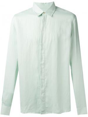 Рубашка с потайной застежкой Qasimi. Цвет: зелёный