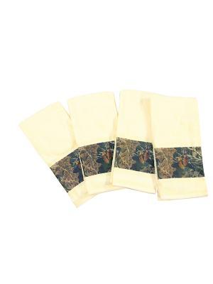 4 полотенца для рук 61х44 см Blonder Home. Цвет: кремовый, темно-коричневый, хаки