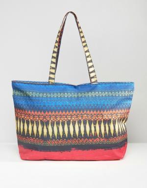 7X Дорожная сумка с принтом. Цвет: мульти