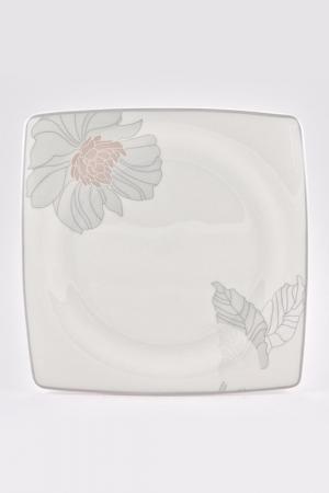 Набор тарелок 24 см, 6 шт. Royal Porcelain Co. Цвет: белый, серый