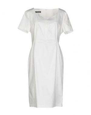 Платье до колена EMISPHERE. Цвет: белый