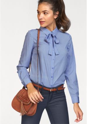Блузка AJC. Цвет: синий/белый