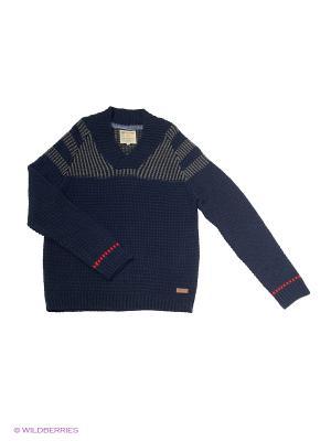 Пуловер GARCIA. Цвет: синий, серый