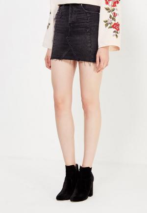 Юбка джинсовая Miss Selfridge. Цвет: серый