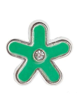 Шарм Lucky Charms DIVAGE. Цвет: зеленый, серебристый