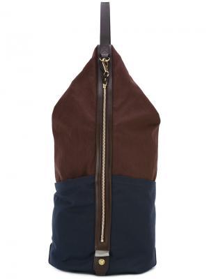 Рюкзак в стиле колор-блок Mismo. Цвет: коричневый