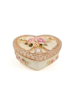Шкатулка для ювелирных украшений Русские подарки. Цвет: розовый, кремовый, персиковый
