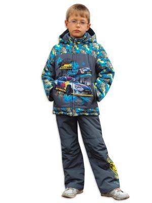Комплект одежды Зимка. Цвет: серо-голубой, серый