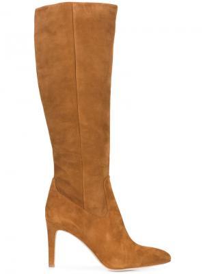 Сапоги с заостренным носком Sam Edelman. Цвет: коричневый