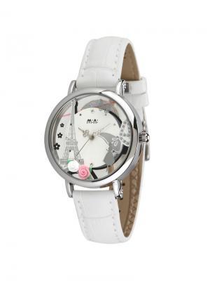 Наручные часы MN2058white Mini.. Цвет: серебристый, белый