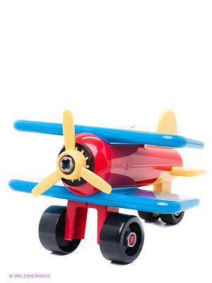 Игрушка-конструктор Разборный самолет Battat. Цвет: красный, синий