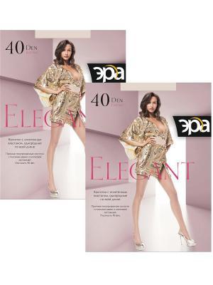 Колготки Elegant 40, 2 пары ЭРА.. Цвет: бежевый