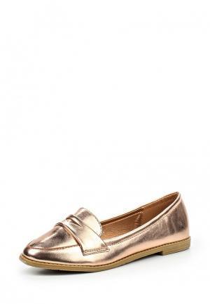 Лоферы Max Shoes. Цвет: золотой