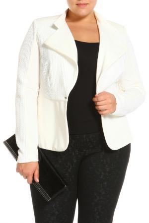 Пиджак Paola Joy. Цвет: белый