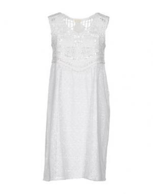 Короткое платье EMAMÒ. Цвет: белый