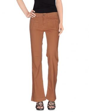 Джинсовые брюки SWILDENS. Цвет: верблюжий