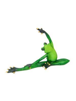 Фигурка декоративная Лягушка - балерина Elan Gallery. Цвет: зеленый