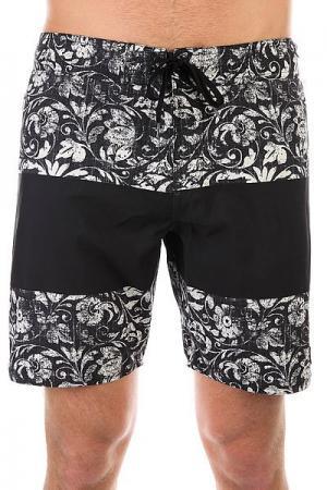 Шорты пляжные DC Roellen 18 Black Regal Rags Shoes. Цвет: черный,белый
