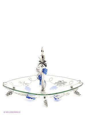 Ваза универсальная Marquis. Цвет: прозрачный, синий, серебристый