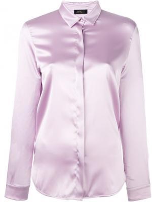 Рубашка с потайной застежкой спереди Les Copains. Цвет: розовый и фиолетовый