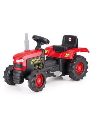 Педальный трактор красно-черный Dolu.. Цвет: красный
